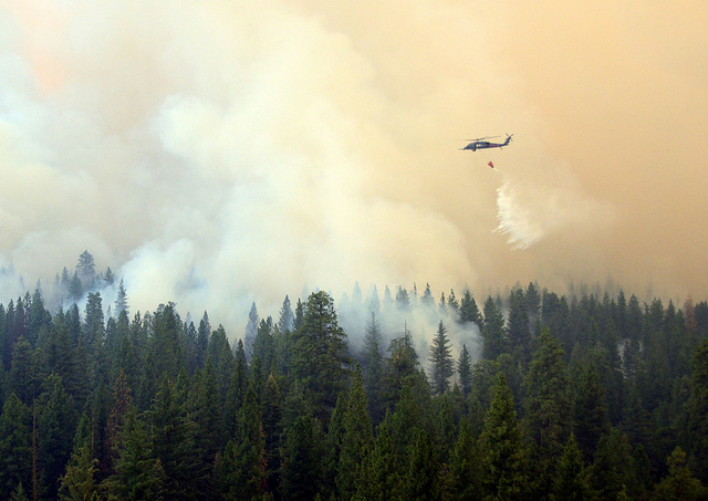Massive 'Rim' Wildfire in California